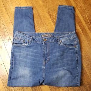 Massini Skinny Jeans Light Wash Mid Rise Stretch